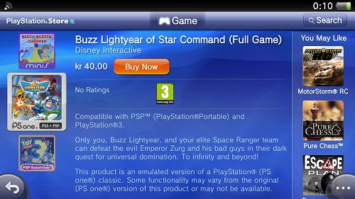 Buzz Lightyear of Star Command PSN