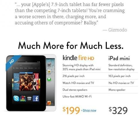 Kindle Fire HD лучше iPad mini