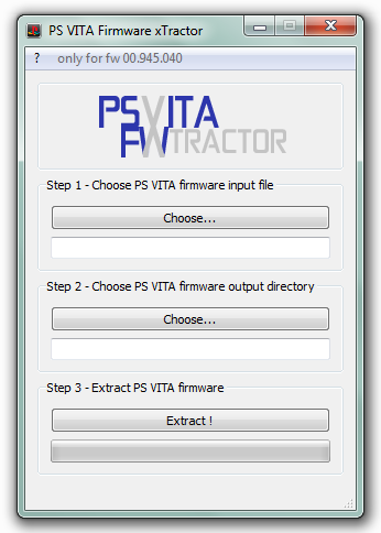 PS VITA Firmware xTractor